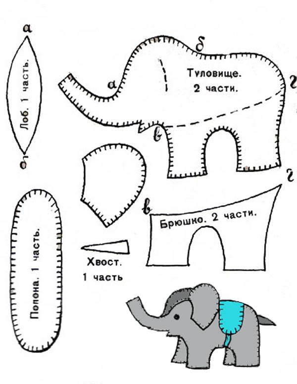 Выкройка для слоника своими руками